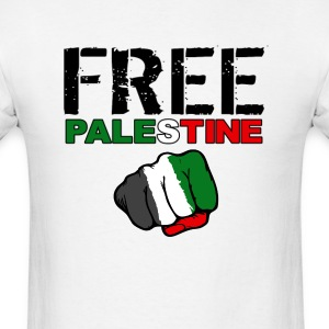 Free Palestine (white) - Men's T-Shirt