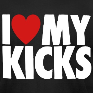 I LOVE MY KICKS T-Shirts - Men's T-Shirt by American Apparel