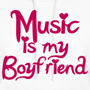 Music is my Boyfriend Vector Hoodies - Women's Hoodie
