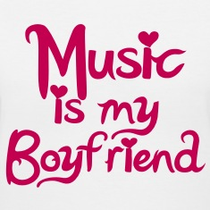 Music is my Boyfriend Vector Women's T-Shirts