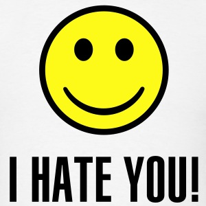 I hate you smiley - Men's T-Shirt