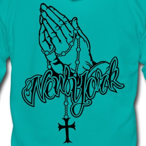 Praying Hands New York Font Direct - Unisex Fleece Zip Hoodie by American Apparel