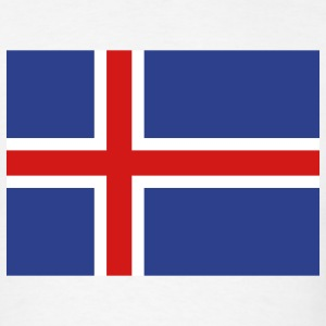 Iceland- Icelandic flag - Men's T-Shirt
