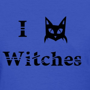 i love witches black cat magic witchcraft pagan wicca  - Women's T-Shirt