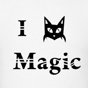 i love black cat magic witchcraft pagan wicca  - Men's T-Shirt