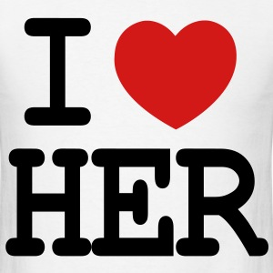 I LOVE HER - Men's T-Shirt