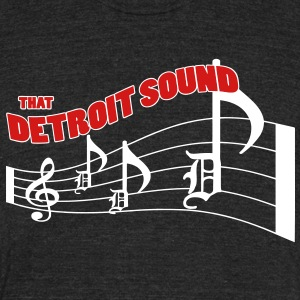 That Detroit Sound T-Shirts - Unisex Tri-Blend T-Shirt by American Apparel