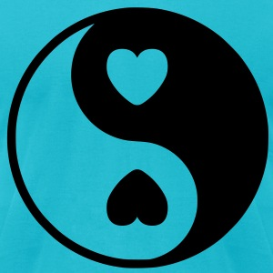 Yin Yang Heart T-Shirts - Men's T-Shirt by American Apparel
