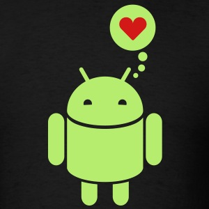 Droid in love 2c T-Shirts - Men's T-Shirt