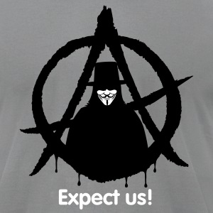 Anonymous Vendetta (only) 2c  T-Shirts - Men's T-Shirt by American Apparel