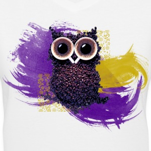 Coffee Bean Owl Women's T-Shirts - Women's V-Neck T-Shirt