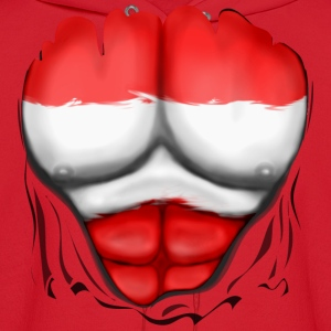 Austria Flag Ripped Muscles, six pack, chest t-shirt - Men's Hoodie