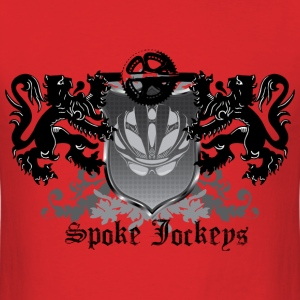 Spoke Jockey logo crest shirt - Men's T-Shirt