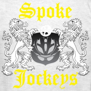Spoke Jockey Crest back - Men's T-Shirt