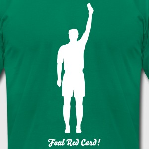Soccer Referee Silhouette 01 T-Shirts - Men's T-Shirt by American Apparel