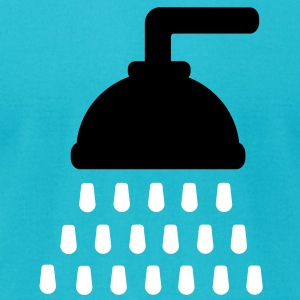 Shower T-Shirts - Men's T-Shirt by American Apparel