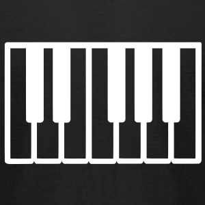 Piano T-Shirts - Men's T-Shirt by American Apparel
