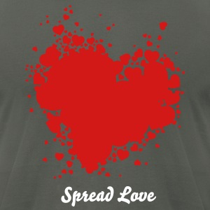 Heart of Hearts T-Shirts - Men's T-Shirt by American Apparel