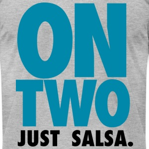 ON TWO JUST SALSA 2012 - Men's T-Shirt by American Apparel