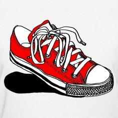 Red Converse Sneaker - Womens