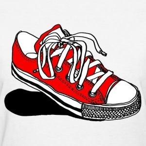 Red Converse Sneaker - Womens - Women's T-Shirt