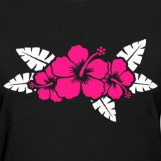 Hawaiian Flower Floral Design Women's T-Shirts
