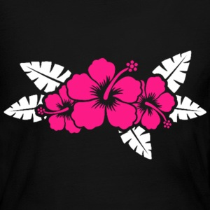 Hawaiian Flower Floral Design Long Sleeve Shirts - Women's Long Sleeve Jersey T-Shirt