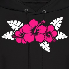 Hawaiian Flower Floral Design Hoodies
