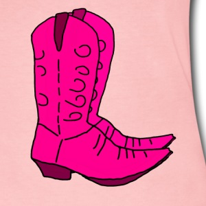 Pink Boots - Women's Long Sleeve Jersey T-Shirt