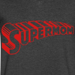 supermom T-Shirts - Men's V-Neck T-Shirt by Canvas