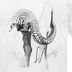 Pangolin T-Shirts - Men's T-Shirt by American Apparel