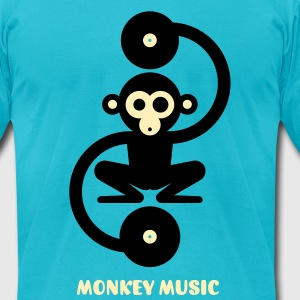 Monkey Music 2c T-Shirts - Men's T-Shirt by American Apparel