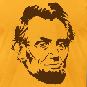 Abe Lincoln T-Shirts - Men's T-Shirt by American Apparel
