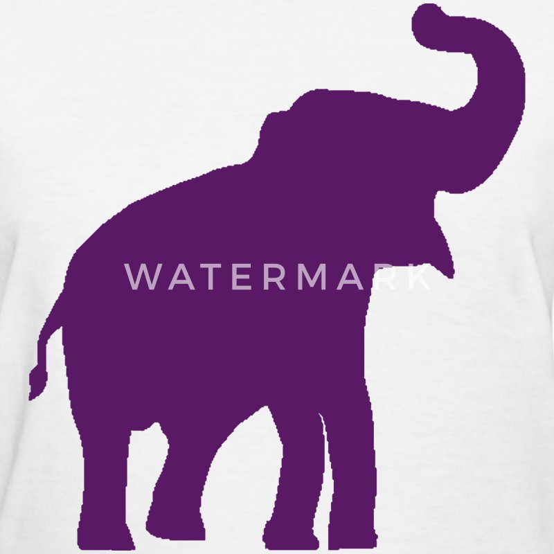 Purple Elephant Design Women's T-Shirts - Women's T-Shirt