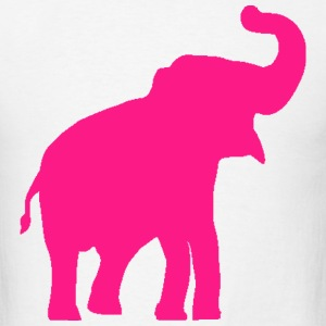 Pink Elephant Design T-Shirts - Men's T-Shirt