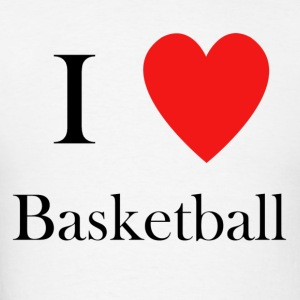 I love basketball heart hoops - Men's T-Shirt