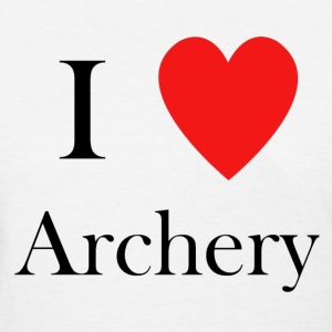 i love archery heart  - Women's T-Shirt