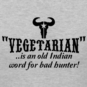 vegetarian is an old word for bad hunter Women's T-Shirts - Women's V-Neck T-Shirt