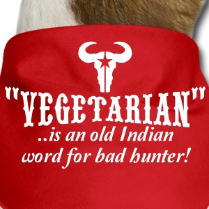 vegetarian is an old word for bad hunter Dog T-Shirts - Dog Bandana