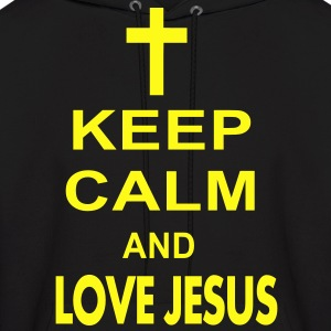 keep calm and love jesus Hoodies - Men's Hoodie