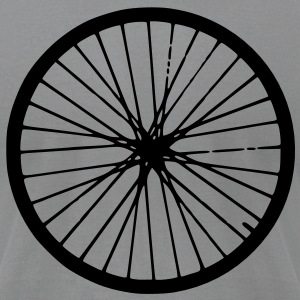 Bicycle Wheel Men's T-shirt - Men's T-Shirt by American Apparel