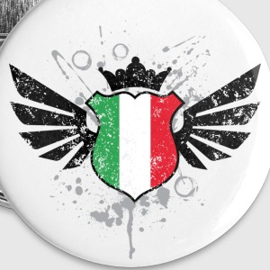 Italy soccer emblem flag - Large Buttons
