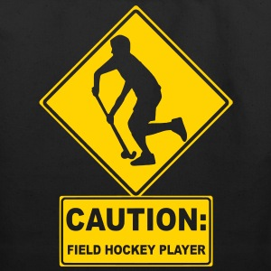 Caution: Field Hockey Player Bags  - Eco-Friendly Cotton Tote