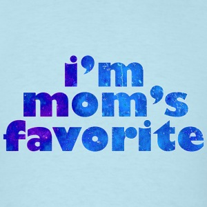 I'M MOM'S FAVORITE - blue T-Shirts - Men's T-Shirt