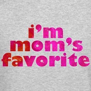 I'M MOM'S FAVORITE - pink Long Sleeve Shirts - Crewneck Sweatshirt