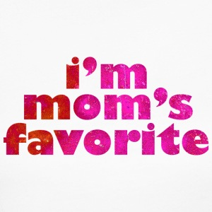 I'M MOM'S FAVORITE - pink Long Sleeve Shirts - Women's Long Sleeve Jersey T-Shirt