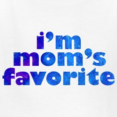I'M MOM'S FAVORITE - blue Kids' Shirts