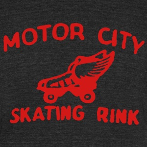 Motor City Skating T-Shirts - Unisex Tri-Blend T-Shirt by American Apparel