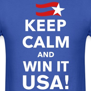 Keep Calm and Win it USA! - Men's T-Shirt