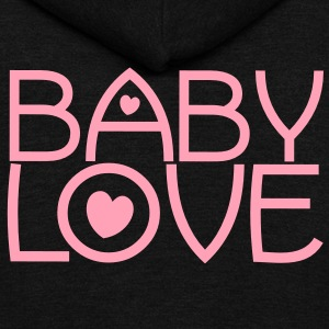 baby love cute font with love hearts lovely! Zip Hoodies/Jackets - Unisex Fleece Zip Hoodie by American Apparel